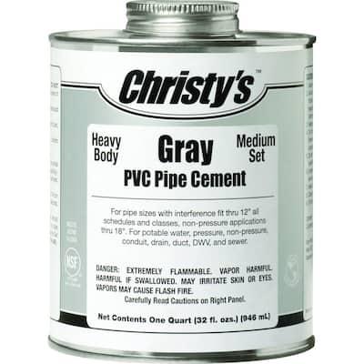 32 oz. PVC Gray Heavy Cement (Case of 12)
