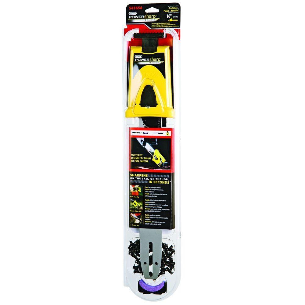 Powersharp 16 In 56 Drive Link Chainsaw Chain And Bar Starter Kit Powersharp 541656 The Home Depot