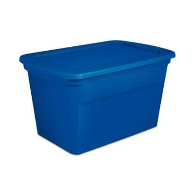30 Gal. Plastic Stackable Storage Tote Container Box, Blue (36 Pack)