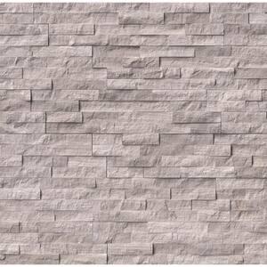 Gray Oak Split Face Ledger Panel 6 in. x 24 in. Marble Wall Tile (10 cases / 60 sq. ft. / pallet)