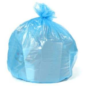 50 in. W x 60 in. H 64 Gal. 1.5 mil Blue Gusset Seal Toter Compatible Trash Bags (50-Case)
