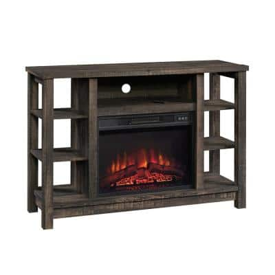 47.48 in. W Carbon Oak TV Console with Fireplace