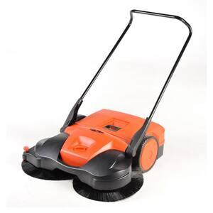 38 in. Battery Powered Triple Brush Push Sweeper