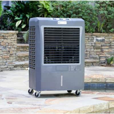 5,300 CFM 3-Speed Portable Evaporative Cooler for 1,600 sq. ft. and 3,100 CFM Evaporative Cooler for 950 sq. ft. Combo