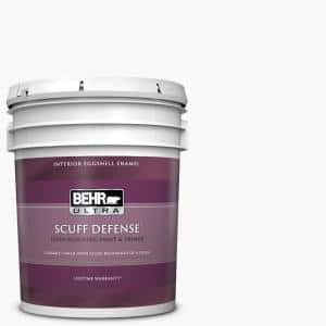 Behr Ultra 5 Gal Ultra Pure White Extra Durable Eggshell Enamel Interior Paint Primer 275005 The Home Depot