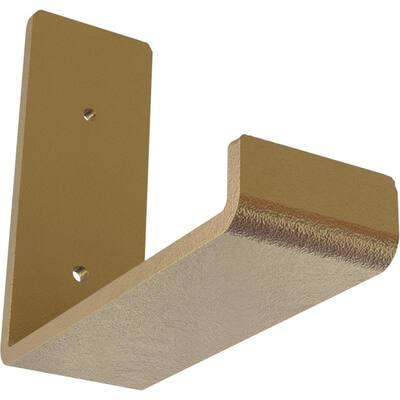 2 in. x 5 1/2 in. x 6 in. Hammered Gold Steel Hanging Shelf Bracket