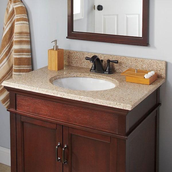 X 22 In Granite Vanity Top Beige, Bathroom Granite Vanity Tops