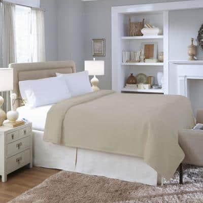 2031 Series Micro Plush Heated Gray Full Blanket