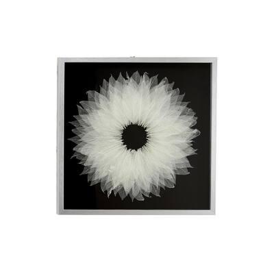 "White Leaf Natural Wall Decor Shadow Box w/ Silver Frame, 23.5"" x 23.5"""