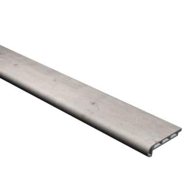 Vinyl Pro Classic Gray Ash 3/4 in. Thick x 1-2-1/16 in. Wide x 72-5/6 in. Length Vinyl Flush Stair Nose Molding