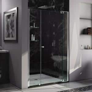 Allure 44 in. to 45 in. x 73 in. Frameless Pivot Shower Door in Chrome