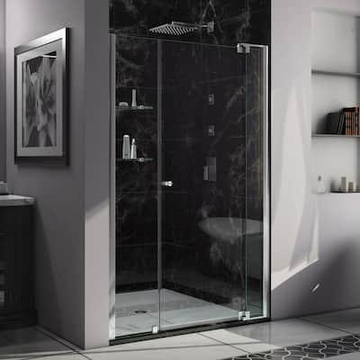Allure 47 in. to 48 in. x 73 in. Semi-Frameless Pivot Shower Door in Chrome