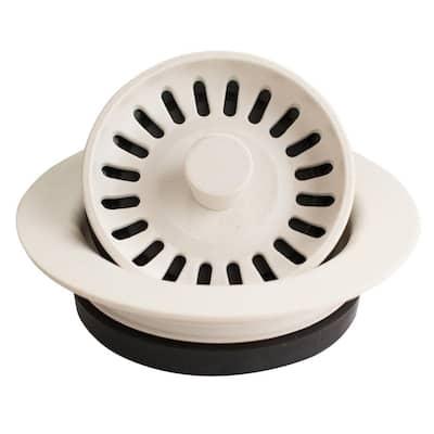 3-1/2 in. Kitchen Sink Decorative Disposal Flange in White