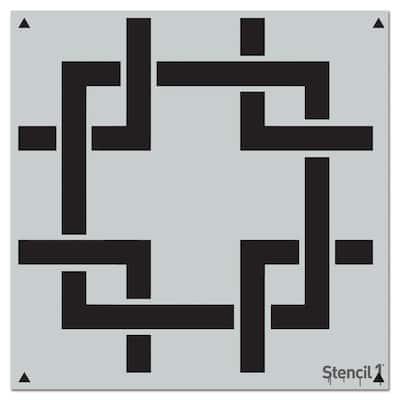 Square Lattice Repeat Pattern Stencil