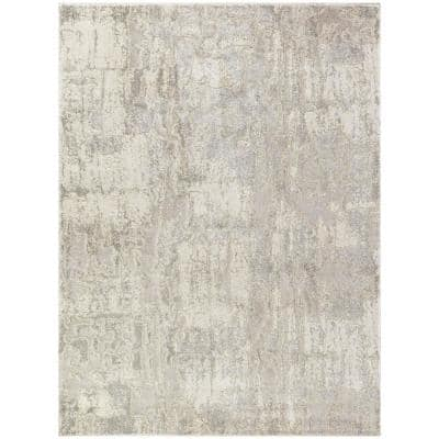 Boswell Grey 8 ft. x 10 ft. Abstract Area Rug