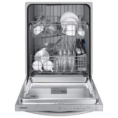 24 in. Top Control Tall Tub Dishwasher in Stainless Steel with Stainless Steel Interior Door, 55 dBA