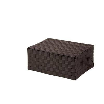 7 in. H x 17 in. W x 12 in. D Brown Fabric Cube Storage Bin