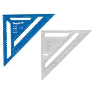 12 in. Laser Etched Aluminum Rafter Square with 7 in. Magnum Aluminum Rafter Square