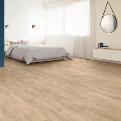 Inspiration 6 in. W Raw Silk Adhesive Luxury Vinyl Plank Flooring (53.93 sq. ft./case)