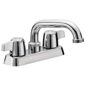 Basic-N-Brass Collection 4 in. Centerset 2-Handle Laundry Faucet in Chrome