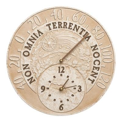 Celestial Clock/Thermometer Weathered Limestone