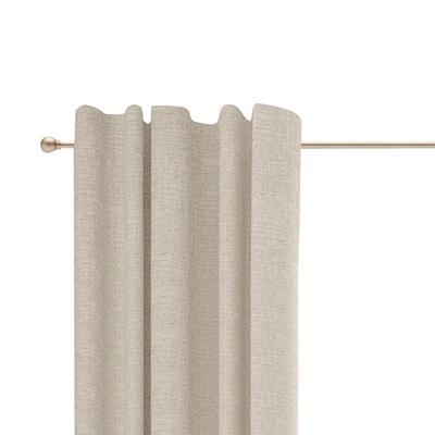 Chelsea 48 in. - 86 in. Adjustable 5/8 in. Single Standard Decorative Window Curtain Rod in Soft Brass
