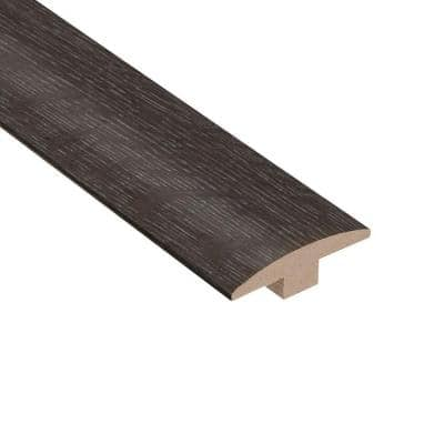 Wire Brushed Oak Lindwood 3/8 in. Thick x 2 in. Wide x 78 in. Length T-Molding