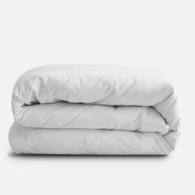 Snow Full/Queen French Linen Duvet Cover
