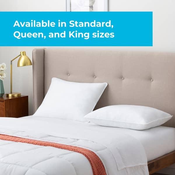 Linenspa Essentials Firm Queen Bed, Queen Bed Pillows