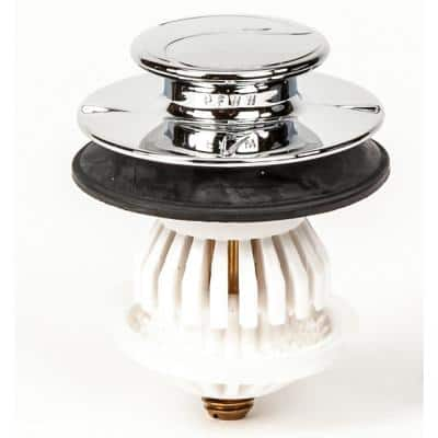 1.5 in. or 1.25 in. DrainEASY Universal Clog Preventing Tub Stopper/Strainer with 3/8 in. & 5/16 in. Fittings, Chrome