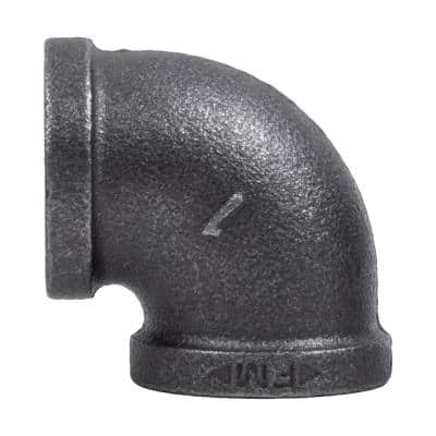 1 in. x 1 in. Black Iron 90° FPT x FPT Elbow