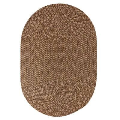 Westport Shades of Brown 5 ft. x 8 ft. Oval Indoor/Outdoor Braided Area Rug