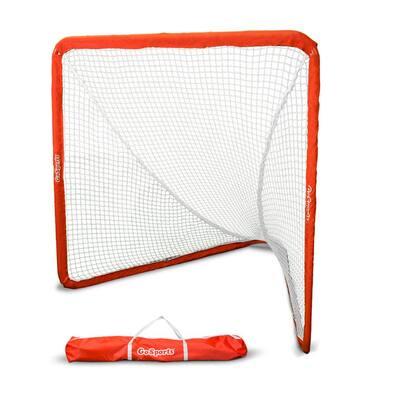 Regulation 6 ft. x 7 ft. Steel Framed Lacrosse Goal Net with Travel Case