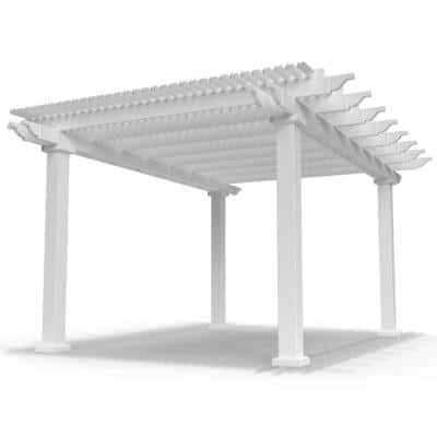 Modern Pergola-Kit Traditional 12 Ft. x 16 Ft. Freestanding Pergola with 7 In. Square Posts