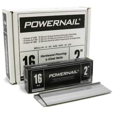 2 in. 16-Gauge Powercleats Hardwood Flooring Nails 5 (1000-Box)