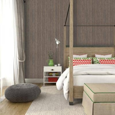 Grasscloth Bronze Peel and Stick Wallpaper (Covers 56 Sq. Ft.)