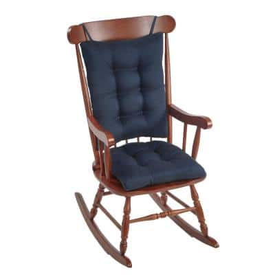 Gripper Omega Indigo Jumbo Rocking Chair Cushion Set