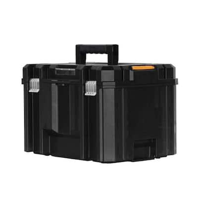 TSTAK VI 17 in. Stackable Deep Tool Storage Box