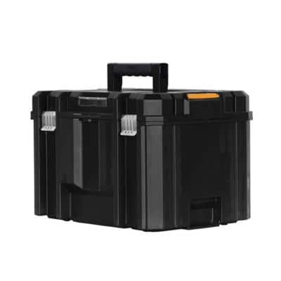 TSTAK VI 17 in. Stackable Deep Tool Storage Box