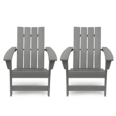 Encino Grey Wood Adirondack Chair (2-Pack)