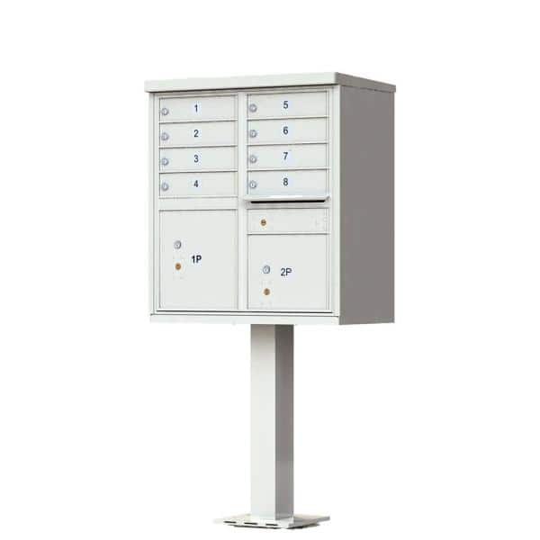 Florence 8 Mailboxes 2 Parcel Lockers 1 Outgoing Mail Compartment Pedestal Mount Cluster Box Unit 1570 8af The Home Depot