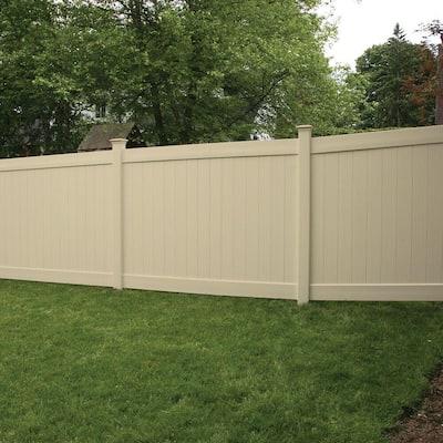 Linden 6 ft. H x 8 ft. W Sand Vinyl Privacy Fence Panel Kit