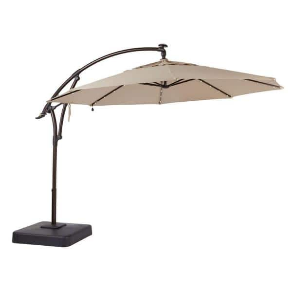 Home Decorators Collection 11 Ft Led, Outdoor Patio Umbrella With Solar Led Lights