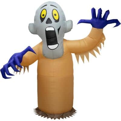 10 ft. Shaking Ghost Halloween Inflatable with Flashing Lights
