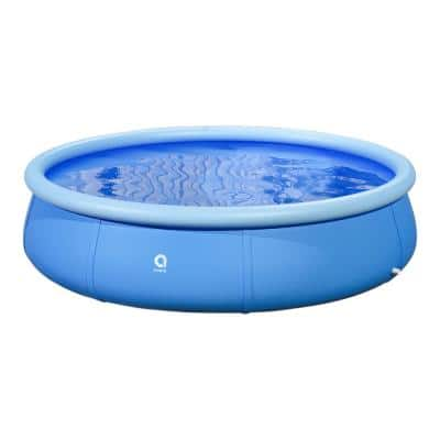 15 ft. Round 36 in. D Above Ground Inflatable Pool Family Swimming Pool Easy Set Outdoor Garden