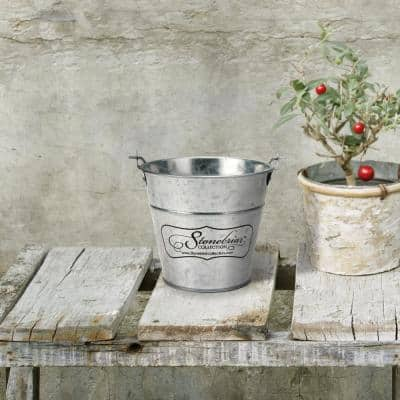 Citronella Scent 30 Hour Long Burning Candle with Galvanized Metal Bucket