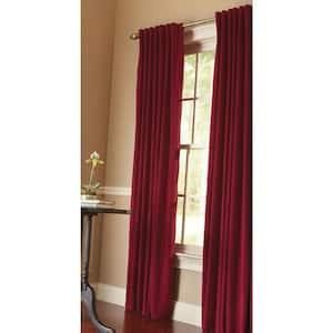 Cranberry Velvet Back Tab Room Darkening Curtain - 50 in. W x 95 in. L