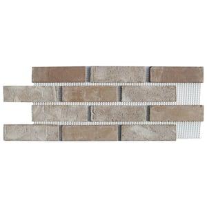 Brickwebb Little Cottonwood Thin Brick Sheets - Flats (Box of 5 Sheets) - 28 in. x 10.5 in. (8.7 sq. ft.)