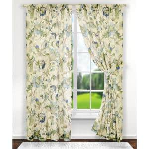 Meadow Polyester Lined Grommet Top Panel In Cobalt 50 In W X 63 In L 730462126771 The Home Depot
