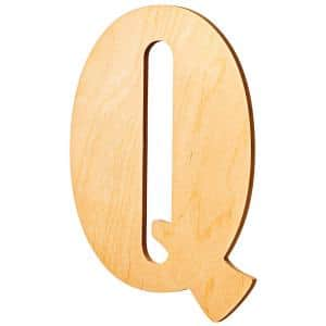 15 in. Oversized Unfinished Wood Letter (Q)